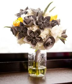 Origami Paper Flower boquet - infuse your style from fun to elegant!