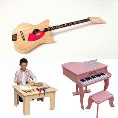 Musical Toys - Three downsized instruments teach aspiring children musical basics