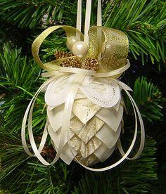 fabric pine cone photo