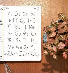 Bullet journal hand lettering idea.   @dotted.v