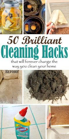 50 Brilliant Cleaning Hacks For Every Room In Your Home. 50 Brilliant Cleaning Hacks For Every Room In Your Home.,CleAning Ever feel like your house is just not clean enough, even after you've spent. Deep Cleaning Tips, House Cleaning Tips, Natural Cleaning Products, Cleaning Solutions, Spring Cleaning, Cleaning Hacks, Cleaning Recipes, Hacks Diy, Sweet Home
