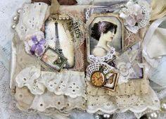 Vintage Shabby Chic Fabric Premade Scrapbook Albums Fabric Lace Prima  http://www.ebay.com/sch/i.html?_odkw=khat&_sac=1&_osacat=0&_from=R40&_trksid=m570.l1313&_nkw=khatsart&_sacat=0