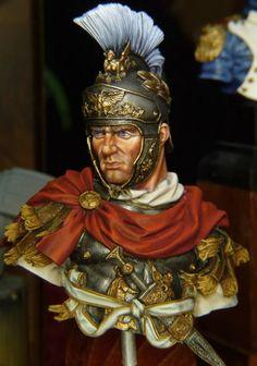 Medusa Tattoo Design, Roman Armor, Roman Legion, Roman Soldiers, Military Figures, Roman History, Miniature Figurines, Modern Sculpture, Character Portraits