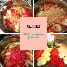 Rețete mediteraneene: Pilaf cu legume și bulgur #diete #retete #nutritie #retetemediteraneene Dieta Dash, Mole, Ethnic Recipes, Health Foods, Custard, Bulgur, Salads, Healthy Foods, Mole Sauce