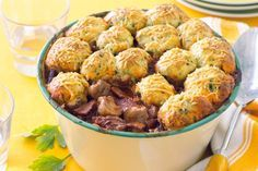 slow-cooked beef with parmesan and herb dumplings