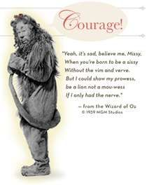 """"""", the Cowardly Lion from 'The Wizard of Oz'. Lion Quotes, Movie Quotes, Wizard Of Oz 1939, Cowardly Lion, Land Of Oz, Personal Progress, 1 Gif, Yellow Brick Road, Wicked Witch"""