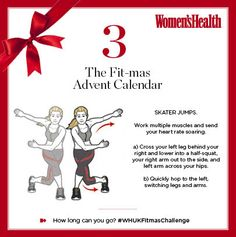 Work multiple muscles and send your heart rate soaring with today's #WHUKFitmasChallenge - skater jumps. Perfect prep for hitting your local rink.