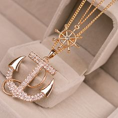 Anchor Bling Necklace Set via Style Alley. Click on the image to see more!
