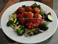 Marinara turkey meatballs on a bed of roasted vegetables PINK Method reset recipe