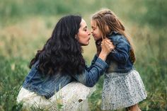 #family #mom #daughter #kiss #love #kentucky #jeanjacket #rusticchic Picture by Adam Brennan
