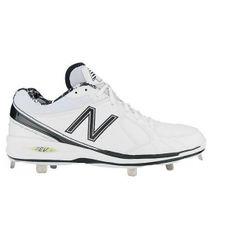 new balance white baseball cleats