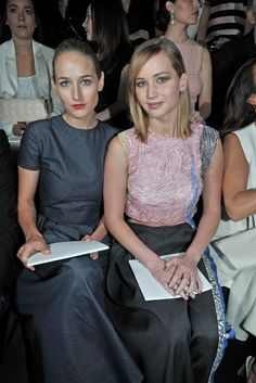 Leelee Sobieski and Jennifer Lawrence Front Row at Dior Couture