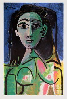 Buste de Femme (Jaqueline) Art Print by Pablo Picasso at Art.com