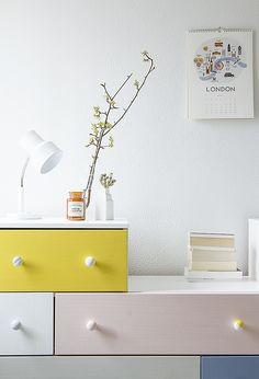 Pinjacolada: Pastelleja makuuhuoneeseen + maaliarvonta / Updated bedroom