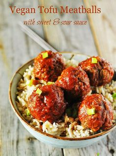 Serve this delicious Vegan Tofu Meatballs as an indulgent appetizer, main course at your next party or dinner. Delicious served with sweet and sour sauce!