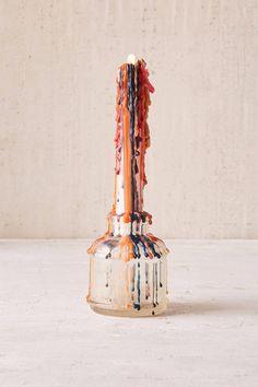 Slide View: 1: Color-Drip Candle Set