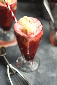 Cherry Vanilla Bean Soda Ice Cream Floats