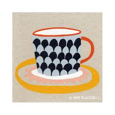 """An on going series. Paintings of the simple things from around the house.  All work featured here is ©Amy Blackwell,2014. Please do not use or reproduce these illustrations without written permission.  """"Tea time..."""" Acrylic on greyboard, ..."""