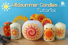 How to decorate candles for midsummer. Easy DIY tutorial with wax sheets and candle paint. Just try this out and you will love the results.