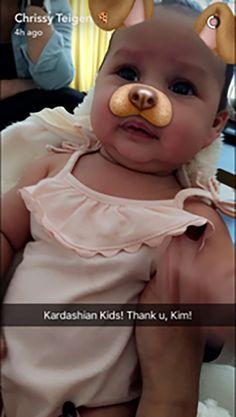 Chrissy Teigen Dresses Baby Luna in Kardashian Kids Collection : Hombres Mag For Men | MoreSmile