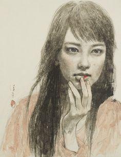 Abe Kiyoko (阿部清子) 1970-, Japanese Artist