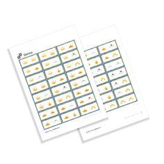 KiddyBlocks | Domino - Koruny Printables, Print Templates