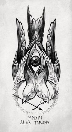 Alex Tabuns- this is just such a weird tattoo and I love it. Such a distinct style