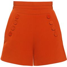 These high-waisted shorts by Finders Keepers in a burnt orange hue features a wide waistband and nautical-inspired front button flap. High Rise Shorts, High Waisted Shorts, Shorts E Blusas, Skirt Pants, Plaid Pants, Blue Pants, White Pants, Pants Outfit, Cargo Pants