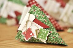! Stamped - with a friend: Sour Cream Container - Christmas!