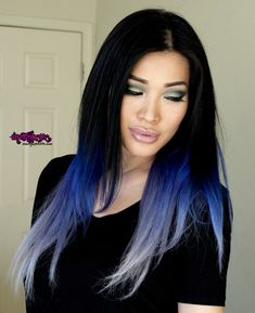 blue ombre purple lilac pastel hair asian cut crease soft cut crease milani secret faux lash vixen dramatic asian makeup fotd nymphette nymp...obsessed with this hair