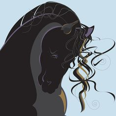 Horse Print by GrafficaEquus  Strength of Black by GrafficaEquus, $85.00 Prints by Marijo Bianco