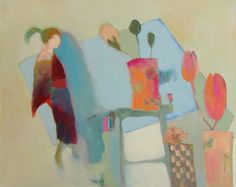 Girl in Kimono and Flowers....judy thorley