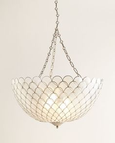 "Kathryn Pendant Light at Horchow.                   24""Dia. x 11.75""T with 4'L chain."