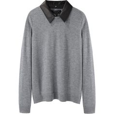 Rag & Bone Kayla Top ($198) ❤ liked on Polyvore featuring tops, sweaters, shirts, jumpers, gray long sleeve shirt, grey shirt, long-sleeve shirt, crew neck sweaters and gray shirt