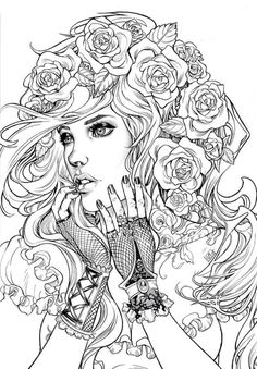 Printable Coloring Pages For Adults Free Designs} Pictures To Color For Adults In Adult Coloring Pages Style - Best Coloring Pages Coloring Pages For Grown Ups, Adult Coloring Book Pages, Coloring Pages To Print, Free Coloring Pages, Printable Coloring Pages, Coloring Sheets, Coloring Books, Coloring For Adults, Tumblr Coloring Pages