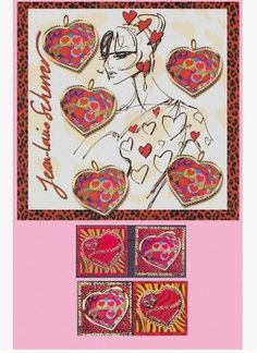 special stamp from Cacharel for Valentine's day 2005