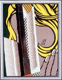 Collage for reflections on hair - Roy Lichtenstein 1989