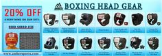 Get exclusive christmas offer from ambersports.com Boxing Hear Gear at 20% off. We have 12 types of boxing head gears.