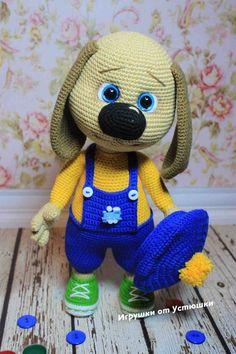Crochet PATTERN puppy /amigurumi dog / pdf tutorial dog / pattern in English Crochet Baby Toys, Crochet Toys Patterns, Amigurumi Patterns, Stuffed Toys Patterns, Crochet Animals, Boo And Buddy, Rabbit Toys, Dog Pattern, Cute Toys