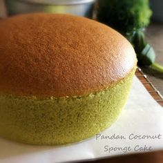My Mind Patch: Pandan Coconut Sponge Cake 香兰椰香海绵蛋糕
