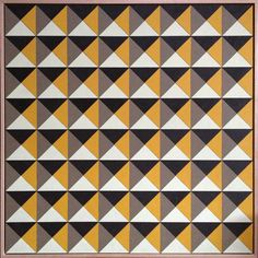 Emma Lipscombe - The Design Files Optical Illusion Quilts, Art Optical, Geometric Quilt, Geometric Shapes, 3d Pattern, Pattern Design, Design Art, Shape Design, Textile Design