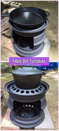 DIY Car Wheel Rim BBQ Grill Tutorial-Video: recycle old car wheel rims into wood stove, BBQ grill for Outdoor Diy Wood Stove, Rims For Cars, Old Tires, Diy Fire Pit, Wheel Rim, Diy Car, Car Wheels, Bbq Grill, Barbecue