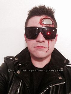 Homemade Terminator T-800 Costume... Coolest Halloween Costume Contest