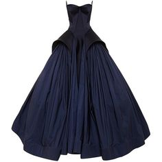 Zac Posen Royal Blue Tafetta Gown ($15,990) ❤ liked on Polyvore featuring dresses, gowns, gown, long dress, blue ball gown, strapless dress, blue dress, royal blue evening dress and blue peplum dress