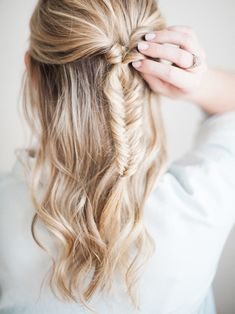 half-up fishtail braid tutorial