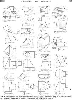 Oblique drawing exercises mee270 homeworks tehnisk grafika patterndevelopments2g jpeg grafik 1800 2507 pixel ccuart Choice Image