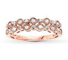Jared - Diamond Ring 1/2 ct tw Round-cut 14K Rose Gold