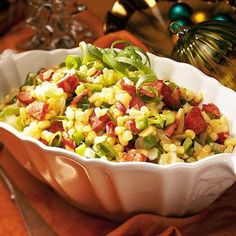 Cajun Corn Maque Choux | This quick and easy vegetable side dish recipe was a Grand Prize Winner from Southern Living.