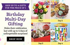 Multi Day Gifting Birthday Flower Delivery Gifts Ideas Balloons