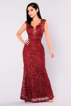 Available in Mauve and Wine Lace Maxi Dress Scoop Back Rhinestone Detail Self, Lining, and Contrast: Polyester Dresses Near Me, Dresses For Sale, Sexy Dresses, Nice Dresses, Evening Dresses, Casual Dresses, Fashion Dresses, Prom Dresses, Wedding Dresses